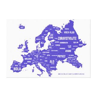 Language Map of Europe Canvas Print
