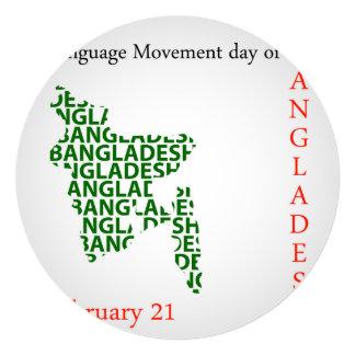 Language Movement day of Bangladesh on February 21 Card