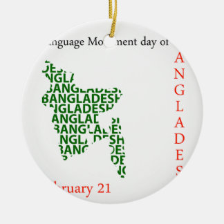 Language Movement day of Bangladesh on February 21 Ceramic Ornament