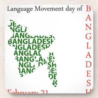 Language Movement day of Bangladesh on February 21 Coaster