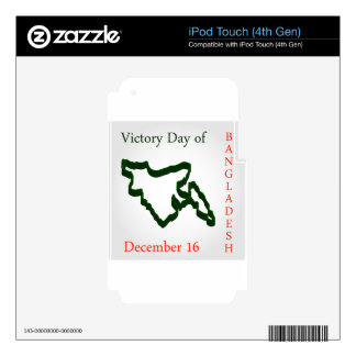 Language Movement day of Bangladesh on February 21 iPod Touch 4G Decal