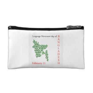Language Movement day of Bangladesh on February 21 Makeup Bag