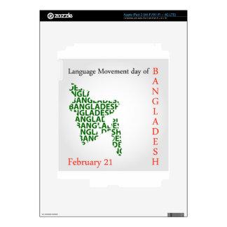 Language Movement day of Bangladesh on February 21 Skin For iPad 3
