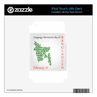 Language Movement day of Bangladesh on February 21 Skins For iPod Touch 4G