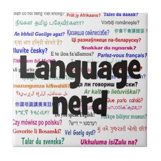 Language nerd and background black ceramic tile