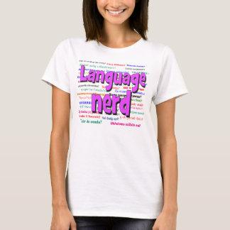 Language nerd and background purple T-Shirt