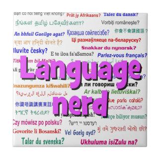 Language nerd and background purple tile