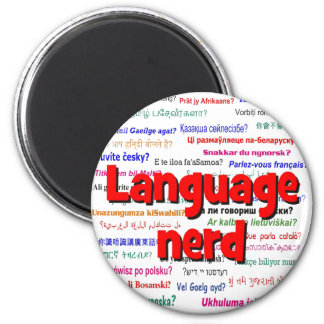 Language nerd and background red magnet