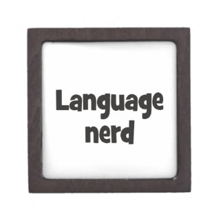 Language nerd Basic black Jewelry Box