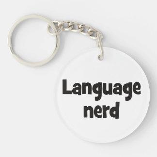 Language nerd Basic black Keychain