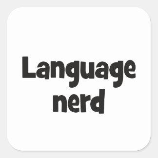 Language nerd Basic black Square Sticker