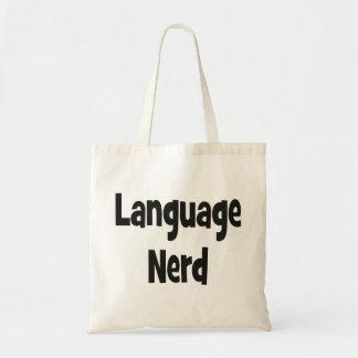 Language nerd Basic black Tote Bag