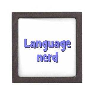 Language nerd Basic blue Keepsake Box