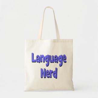 Language nerd Basic blue Tote Bag