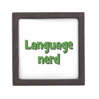 Language nerd Basic green Keepsake Box