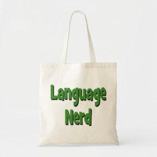 Language nerd Basic green Tote Bag