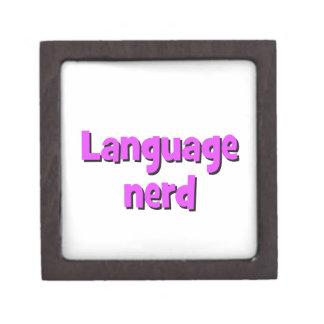 Language nerd Basic purple Keepsake Box