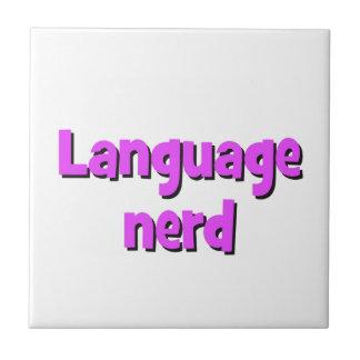 Language nerd Basic purple Tile