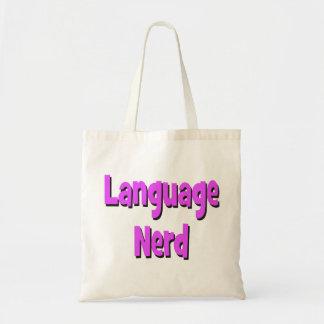 Language nerd Basic purple Tote Bag
