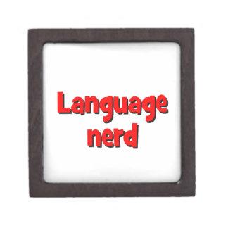 Language nerd Basic red Keepsake Box