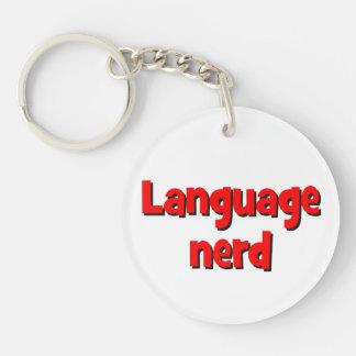 Language nerd Basic red Keychain
