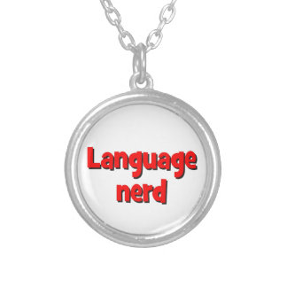 Language nerd Basic red Silver Plated Necklace