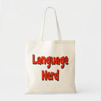 Language nerd Basic red Tote Bag