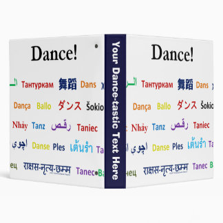 Language of Dance!  Words for Dance Worldwide 3 Ring Binder