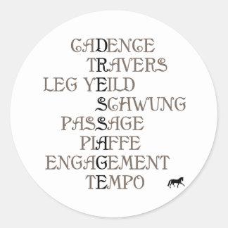 Language of Dressage Classic Round Sticker
