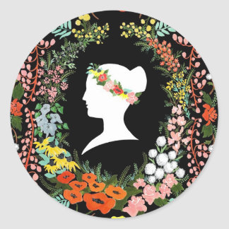 Language of Flowers Classic Round Sticker