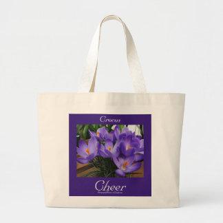 Language of Flowers Crocus Cheer Tote Bag