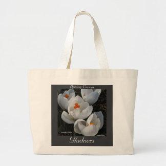 Language of Flowers Crocus Gladness Jumbo Tote Bag