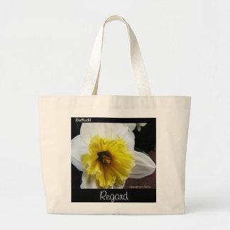 Language of Flowers Daffodil Regard Large Tote Bag