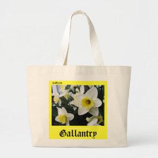 Language of Flowers Daffodils Gallantry Bag