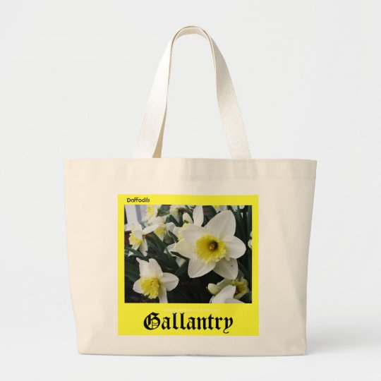 Language of Flowers Daffodils Gallantry Large Tote Bag