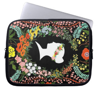 "Language of Flowers laptop 10"" case Computer Sleeve"