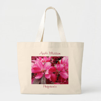 Language of Flowers Pink Apple Blossom Preference Large Tote Bag