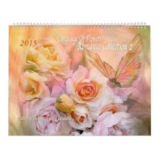 Language Of Flowers Romance 2 Art Calendar 2015