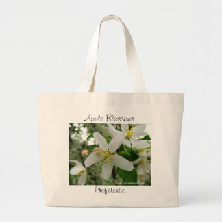 Language of Flowers White Apple Blossom Preference Large Tote Bag