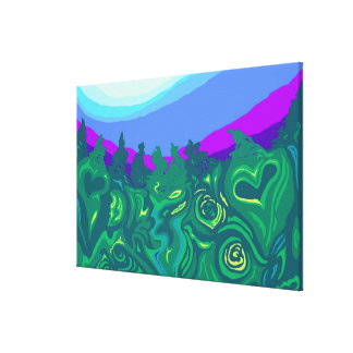 Language of Forest - larger version Canvas Print