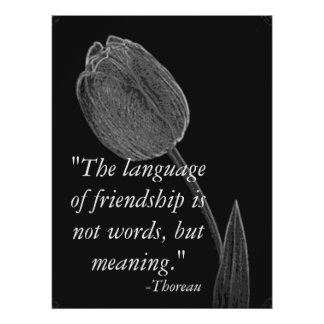 Language Of Friendship Poster.