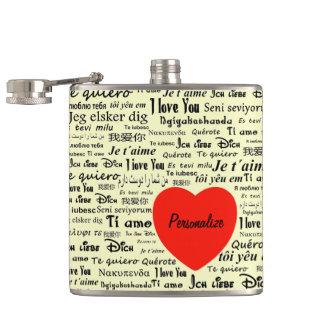 """Language of Love"" Flask"