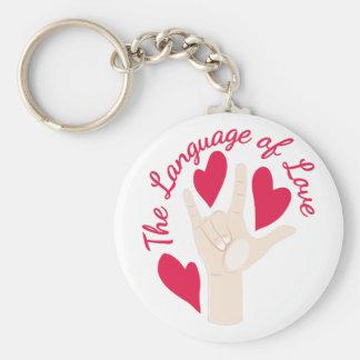 Language Of Love Keychain