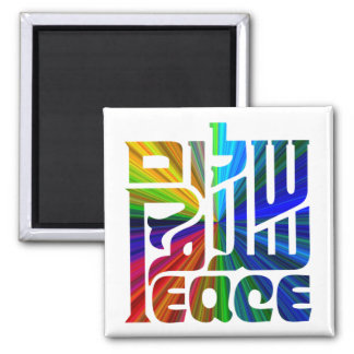 Language of Peace 2 Inch Square Magnet