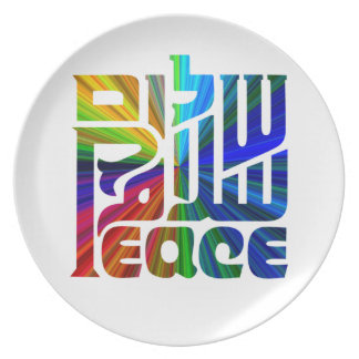 Language of Peace-Hebrew, Arabic, English Dinner Plate