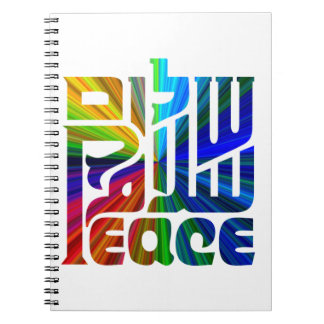 Language of Peace/Hebrew, Arabic, English Spiral Notebook