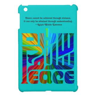 Language of Peace-Hebrew, English, Arabic/Blue iPad Mini Case