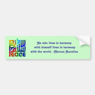 Language of Peace-with Quote Bumper Sticker