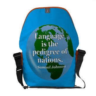 Language pedigree nations Quote. Globe Courier Bags