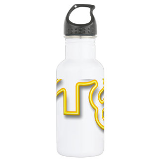 language text indian stainless steel water bottle
